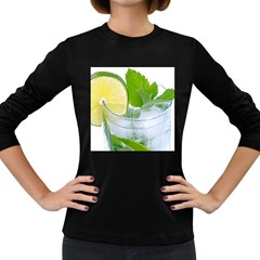 Cold Drink Lime Drink Cocktail Women s Long Sleeve Dark T Shirts