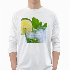 Cold Drink Lime Drink Cocktail White Long Sleeve T Shirts