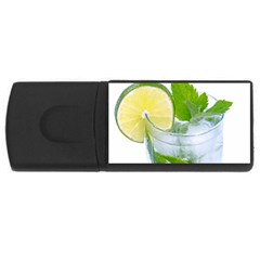Cold Drink Lime Drink Cocktail Usb Flash Drive Rectangular (4 Gb)