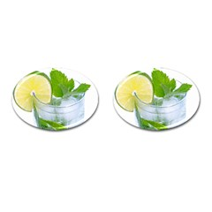Cold Drink Lime Drink Cocktail Cufflinks (oval)