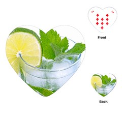 Cold Drink Lime Drink Cocktail Playing Cards (heart)