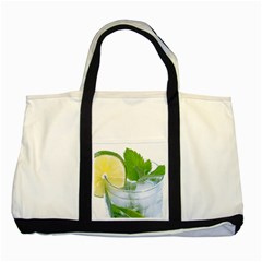 Cold Drink Lime Drink Cocktail Two Tone Tote Bag