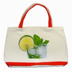 Cold Drink Lime Drink Cocktail Classic Tote Bag (red)
