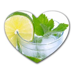 Cold Drink Lime Drink Cocktail Heart Mousepads