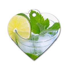 Cold Drink Lime Drink Cocktail Dog Tag Heart (One Side)