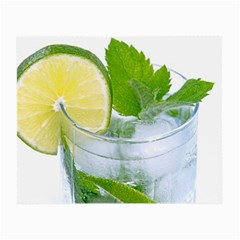 Cold Drink Lime Drink Cocktail Small Glasses Cloth (2 Side)