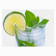 Cold Drink Lime Drink Cocktail Large Glasses Cloth (2 Side)