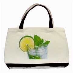 Cold Drink Lime Drink Cocktail Basic Tote Bag (two Sides)
