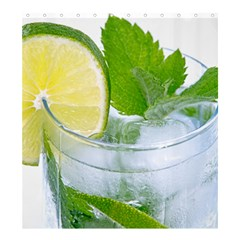 Cold Drink Lime Drink Cocktail Shower Curtain 66  X 72  (large)
