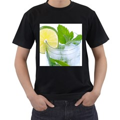 Cold Drink Lime Drink Cocktail Men s T Shirt (black)