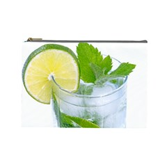 Cold Drink Lime Drink Cocktail Cosmetic Bag (large)
