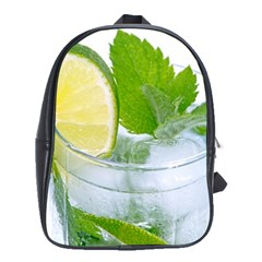 Cold Drink Lime Drink Cocktail School Bags(large)
