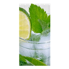 Cold Drink Lime Drink Cocktail Shower Curtain 36  X 72  (stall)
