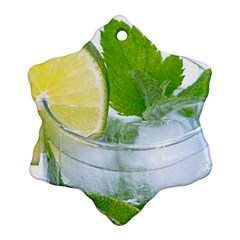 Cold Drink Lime Drink Cocktail Snowflake Ornament (2 Side)