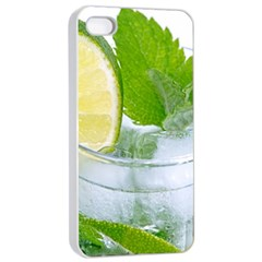 Cold Drink Lime Drink Cocktail Apple Iphone 4/4s Seamless Case (white)