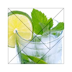 Cold Drink Lime Drink Cocktail Acrylic Tangram Puzzle (6  X 6 )