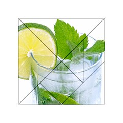 Cold Drink Lime Drink Cocktail Acrylic Tangram Puzzle (4  X 4 )
