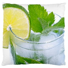 Cold Drink Lime Drink Cocktail Large Cushion Case (one Side)