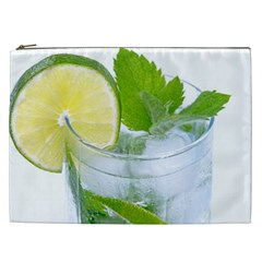 Cold Drink Lime Drink Cocktail Cosmetic Bag (xxl)