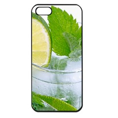 Cold Drink Lime Drink Cocktail Apple Iphone 5 Seamless Case (black)