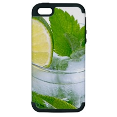 Cold Drink Lime Drink Cocktail Apple Iphone 5 Hardshell Case (pc+silicone)
