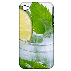 Cold Drink Lime Drink Cocktail Apple Iphone 4/4s Hardshell Case (pc+silicone)