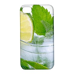 Cold Drink Lime Drink Cocktail Apple Iphone 4/4s Hardshell Case With Stand