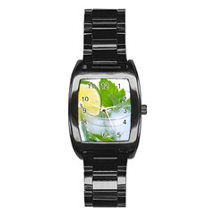 Cold Drink Lime Drink Cocktail Stainless Steel Barrel Watch