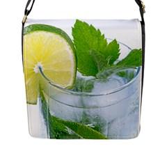 Cold Drink Lime Drink Cocktail Flap Messenger Bag (l)