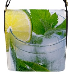Cold Drink Lime Drink Cocktail Flap Messenger Bag (s)