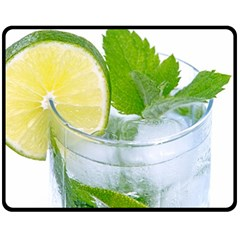 Cold Drink Lime Drink Cocktail Double Sided Fleece Blanket (medium)