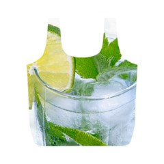 Cold Drink Lime Drink Cocktail Full Print Recycle Bags (m)