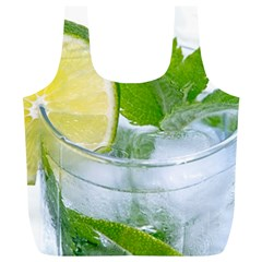 Cold Drink Lime Drink Cocktail Full Print Recycle Bags (l)