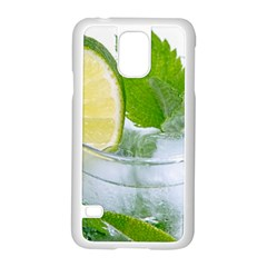 Cold Drink Lime Drink Cocktail Samsung Galaxy S5 Case (white)