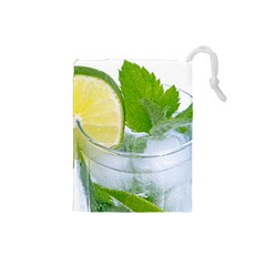 Cold Drink Lime Drink Cocktail Drawstring Pouches (small)