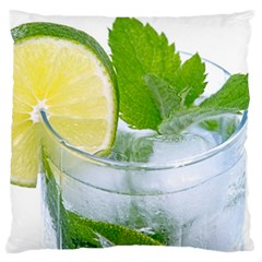 Cold Drink Lime Drink Cocktail Large Flano Cushion Case (one Side)