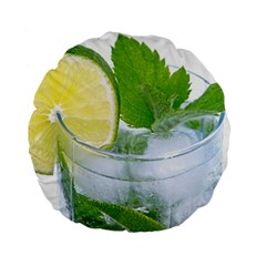 Cold Drink Lime Drink Cocktail Standard 15  Premium Flano Round Cushions