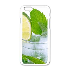 Cold Drink Lime Drink Cocktail Apple Iphone 6/6s White Enamel Case