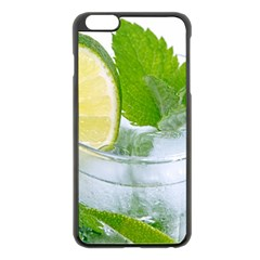 Cold Drink Lime Drink Cocktail Apple Iphone 6 Plus/6s Plus Black Enamel Case
