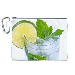 Cold Drink Lime Drink Cocktail Canvas Cosmetic Bag (xl)