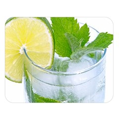 Cold Drink Lime Drink Cocktail Double Sided Flano Blanket (large)