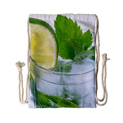Cold Drink Lime Drink Cocktail Drawstring Bag (small)