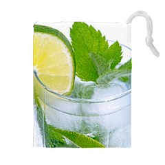 Cold Drink Lime Drink Cocktail Drawstring Pouches (extra Large)