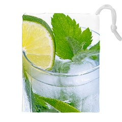 Cold Drink Lime Drink Cocktail Drawstring Pouches (xxl)