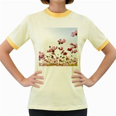 Flowers Plants Korea Nature Women s Fitted Ringer T Shirts