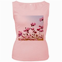 Flowers Plants Korea Nature Women s Pink Tank Top