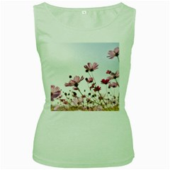 Flowers Plants Korea Nature Women s Green Tank Top