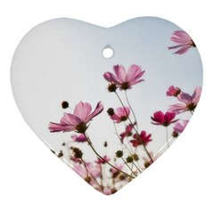 Flowers Plants Korea Nature Heart Ornament (2 Sides)