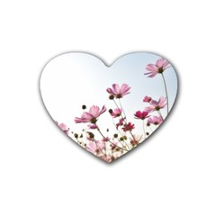 Flowers Plants Korea Nature Rubber Coaster (heart)