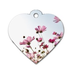 Flowers Plants Korea Nature Dog Tag Heart (two Sides)